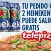 Sorteo 300 pedidos Telepizza gratis con Heinken 0,0