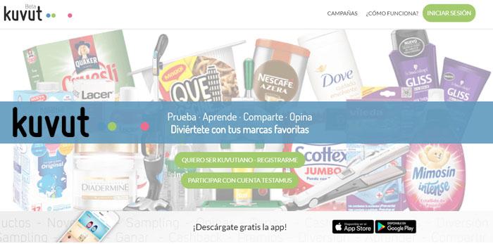 18c4f05cb ▷ Prueba productos gratis con Kuvut (antes Testamus) → FaceSorteos ☘