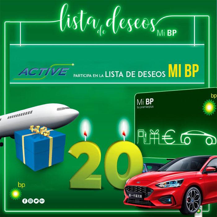 Promoción Lista de Deseo Mi BP con regalos, viajes y coche