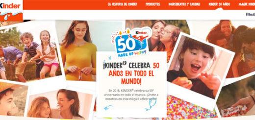 promocion del 50 aniversario de kinder pide tu deseo