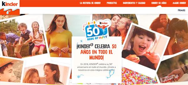promoción del 50 aniversario de kinder pide tu deseo