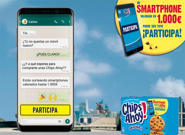 sorteo de chips ahoy para ganar smartphones valorados en 1000€