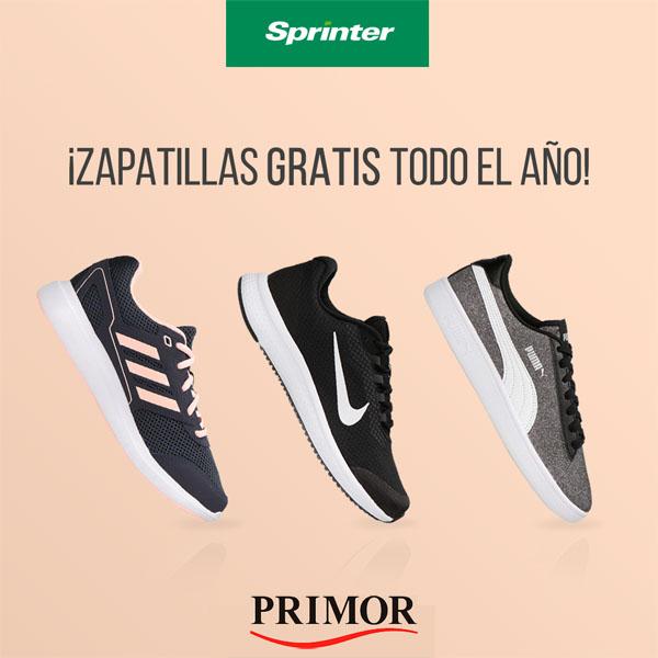 sorteo primor de 12 pares de zapatillas de sprinter