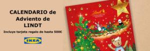 calendario de adviento de lindt con tarjeta regalo de ikea