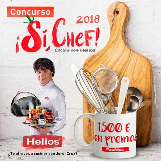 """concurso """"sí, chef"""" de Helios"""