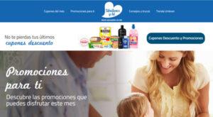 página web unilever y tu con descuentos y promociones