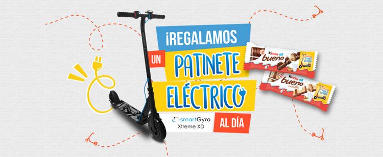promoción de kinder bueno regala patinetes eléctricos cada día