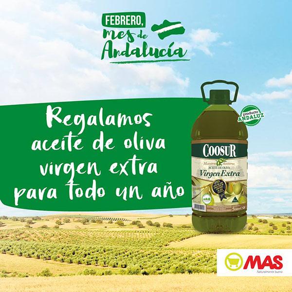 gana un año de aceite de oliva virgen extra gracias a supermercados mas
