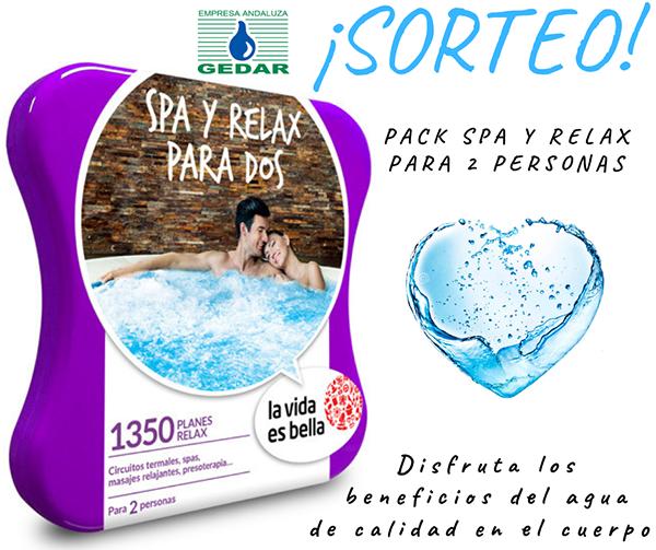 promoción de gedar para ganar pack de spa y relax para dos
