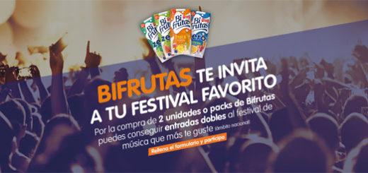promoción de bifrutas para ganar dos entradas para tu festival favorito