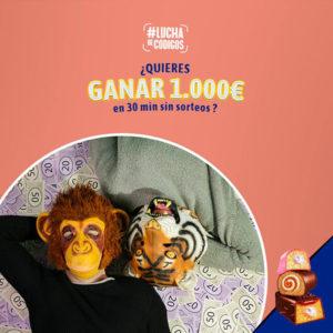 promoción de pantera rosa, bony y tigreton de lucha de códigos de bimbo para ganar 1000 €
