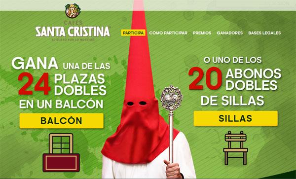 promoción de cafes santa cristina para ganar abonos de semana santa y balcones de semana santa