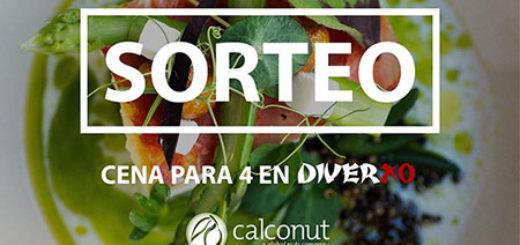 sorteo de calconut para ganar una cena para cuatro personas en el restaurante diverxo de Madrid