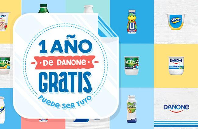 sorteo de danone para ganar un año de productos marca Danone