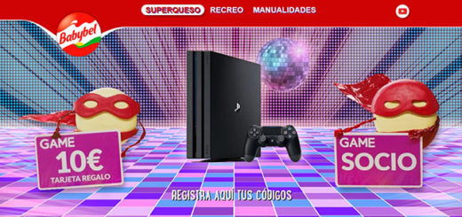 sorteo de babybel con 150 playstation 4 y tarjetas game