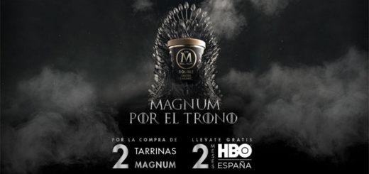 promoción de Magnum consigue 2 meses gratis de HBO