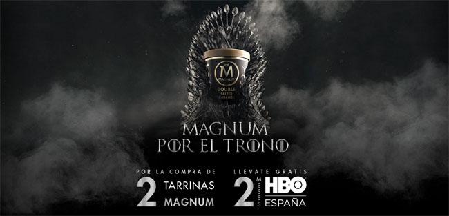 Promoción de Magnum para conseguir 2 meses gratis de HBO