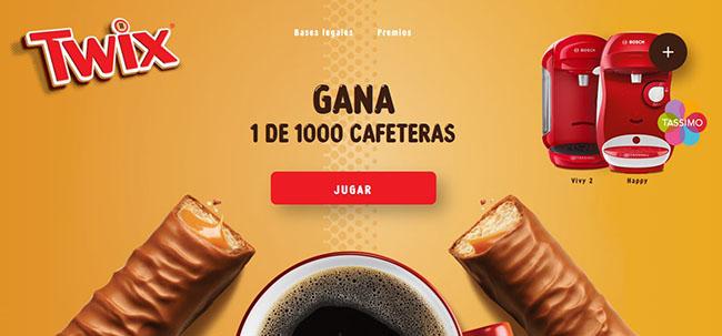 twix sortea 1000 cafeteras de tassimo