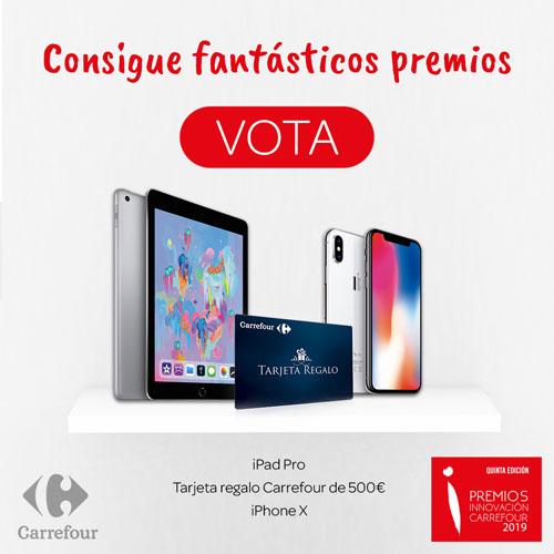 sorteo de carrefour de premios innovación para ganar iphone x, ipad, tarjetas de regalo de 500€