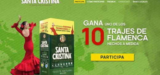 promoción de cafés santa cristina para ganar uno de los 10 trajes de flamenca que sortean para la feria