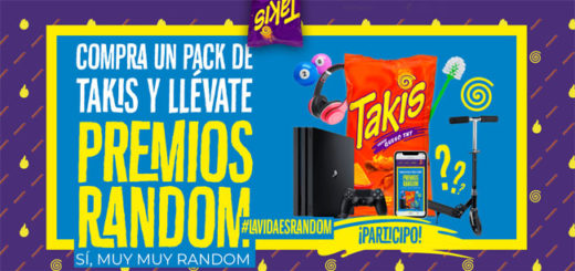 sorteo de takis de iphone, patinetes, playstation 4 y más premios