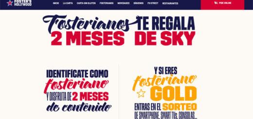 promoción de foster hollywood para ganar dos meses de Sky y premios para fosterianos gold