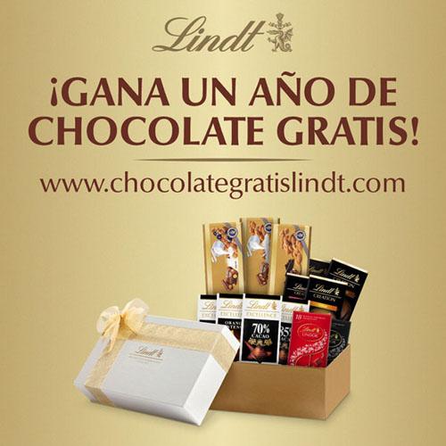 promoción de lindt para ganar un año de chocolate gratis