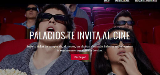 promoción de palacios para ganar una entrada de cine gratis