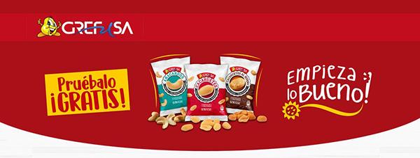 promoción grefusa para probar bolsa de frutos secos gratis