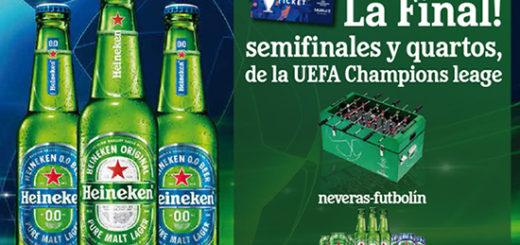 promocion de heineken para entrar en el sorteo de entradas para la final de la Champions Leae y conseguir más premios