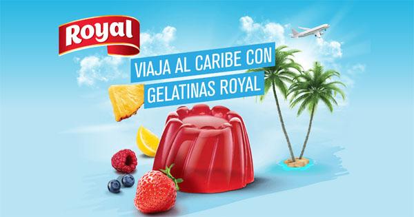 promoción de gelatinas royal para ganar viaje al caribe