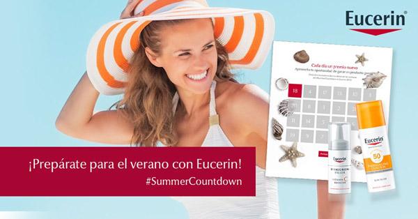 Promoción de Eucerin con sorteo diario de sus productos