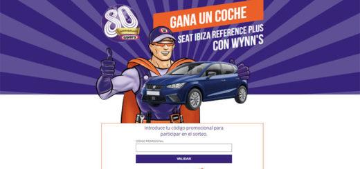 promo wynns 80 aniversario coche seat ibiza