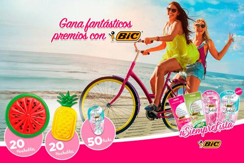 Promoción de BIC Siempre Lista para ganar colchonetas gigantes y packs de maquinillas