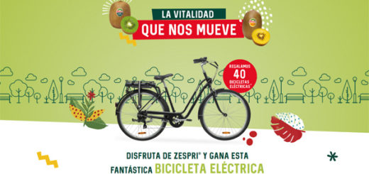 sorteo de 40 bicicletas eléctrica gracias a la promoción de ZESPRI