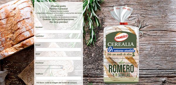 Prueba gratis el pan de panrico cerealia de romero y 7 semillas
