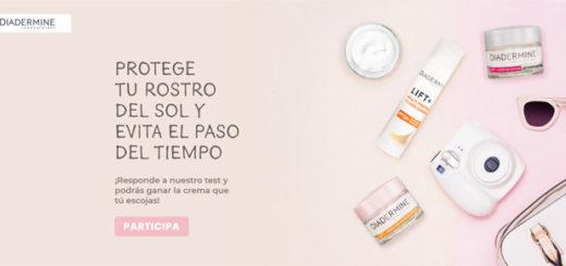 Promoción de diadermine con sorteo de muestras gratis o cupones de descuentos para probar cremas