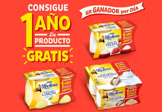 yogures la lechera promocion productos gratis