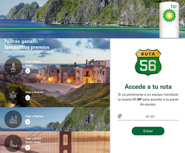 promocion bp ruta 56 viajes sorteos