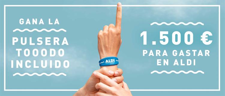 Sorteo de pulsera contactless de 1500€ de Aldi