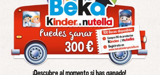 sorteo beka kinder nutella 300 euros
