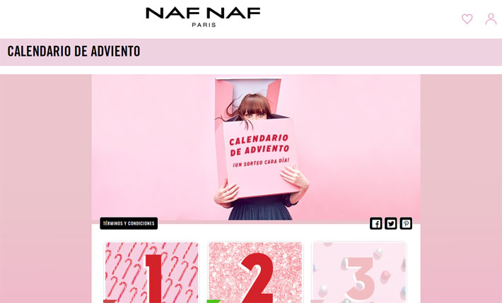 calendario adviento naf naf