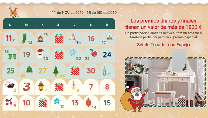 calendario adviento songmics