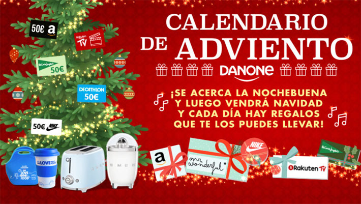 regalos danone calendario adviento