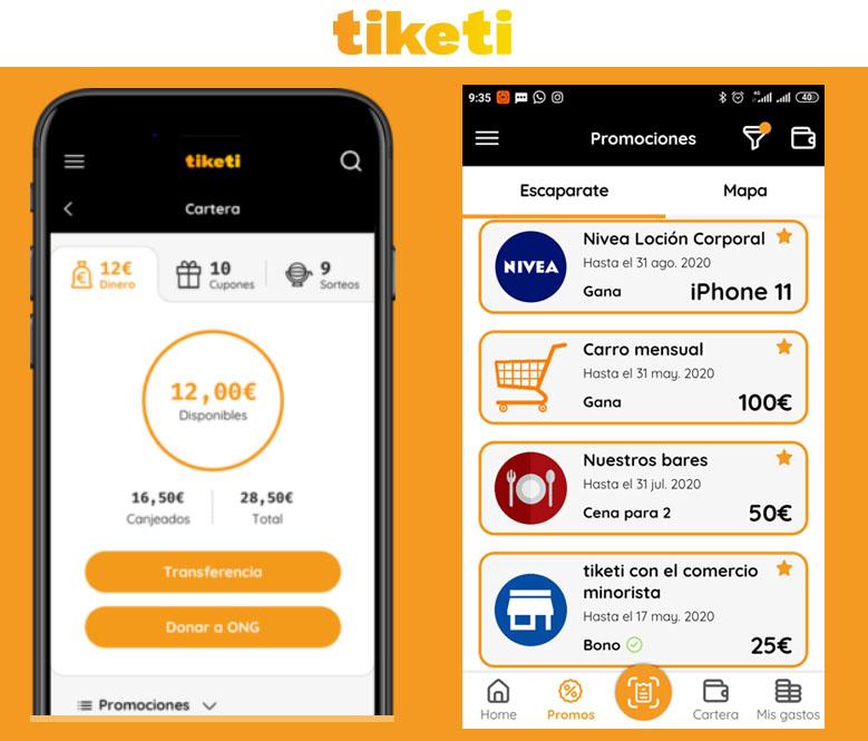 tiketi app dinero por ticket gastos y sorteos