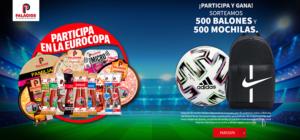 Sorteo 500 balones y mochilas Eurocopa Palacios