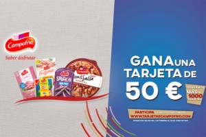 Sorteo de 1000 tarjetas de 50 euros con Campofrío