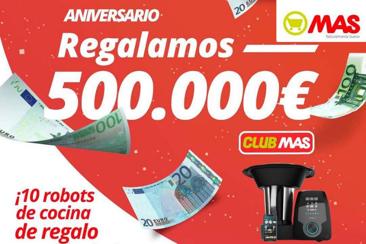 Sorteo Supermercado MAS robot de cocina y 500.000 euros