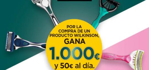 Sorteo Wilkinson Sword 1000 euros y 50 euros